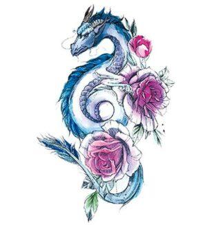 Dragon Ephemeral Tattoo For Women