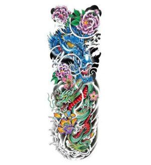 Dragon Ephemeral Tattoo Flowery Wall