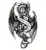Dragon Ephemeral Tattoo Gothic Art