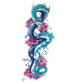 Dragon Ephemeral Tattoo Haku Waterproof