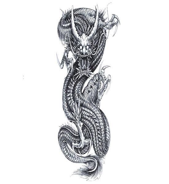 Dragon Ephemeral Tattoo Men