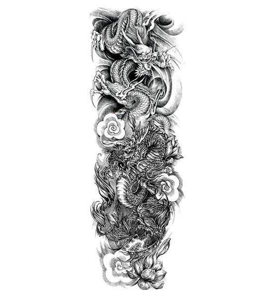 Dragon Ephemeral Tattoo Twin Creature
