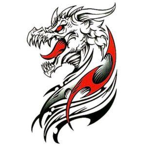 Dragon Ephemeral Tattoo Occidental Type