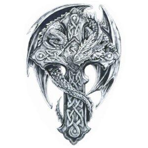 Dragon Ephemeral Tattoo Celtic Style