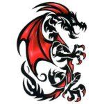 Dragon Ephemeral Tattoo Red Fate