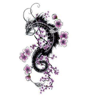Dragon Ephemeral Tattoo Sakura
