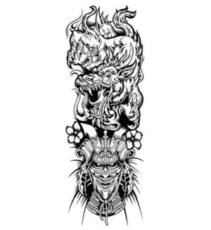 Dragon Ephemeral Tattoo Samurai Art