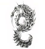 Dragon Ephemeral Tattoo Steampunk
