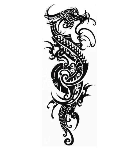 Dragon Ephemeral Tattoo Tribal Art
