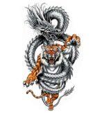 Dragon Ephemeral Tattoo Tiger Drawing