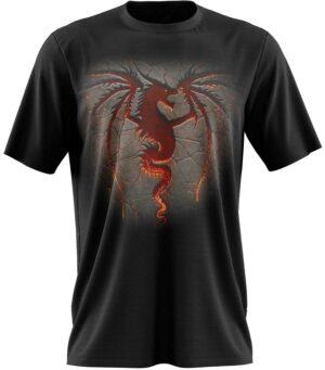 Dragon Tshirt Man Black Red