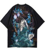 Dragon Tshirt Yakuza Cotton Streetwear