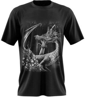 Dragon Tshirt Pattern Black and White