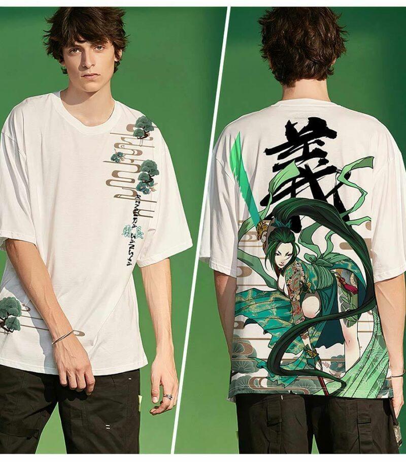 Dragon Tshirt Tsukikage Samurai