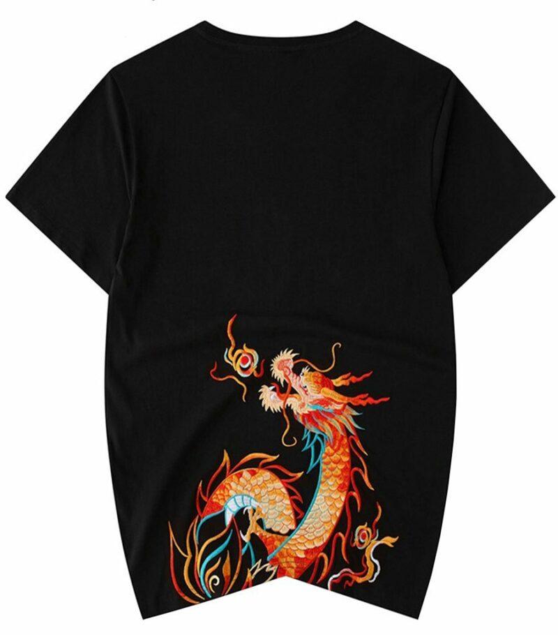 Dragon Tshirt Flamboyant China Style Cotton