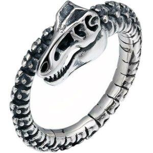 Sterling Silver Skeleton Dragon Ring