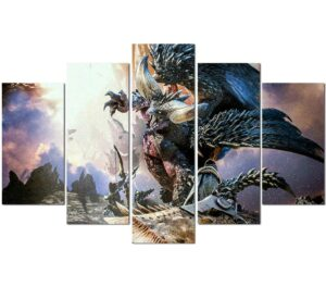 Dragon Painting Monster Hunter Wall Art