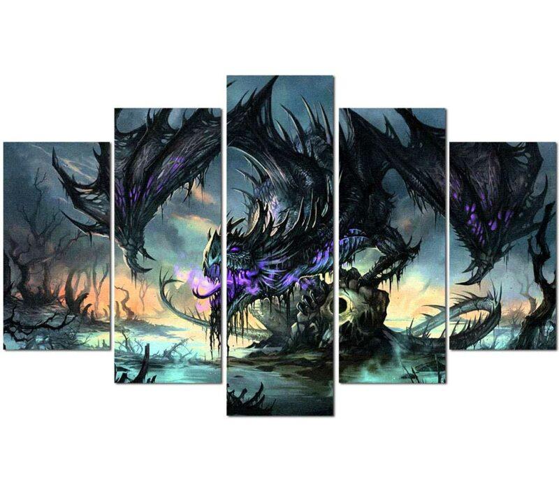 Dragon Painting Darkness Wall Art