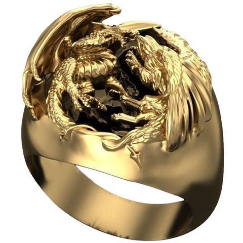 Dragon and Phoenix Ring