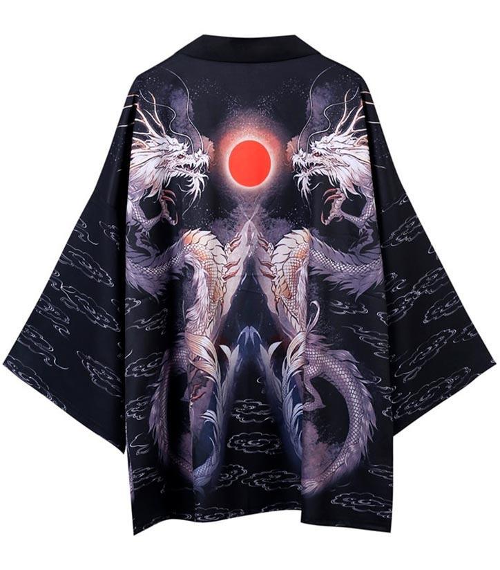 Lunar Jacket Dragon Kimono Haori